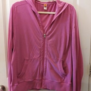 Lucy pink yoga zip up hoodie. Size XL